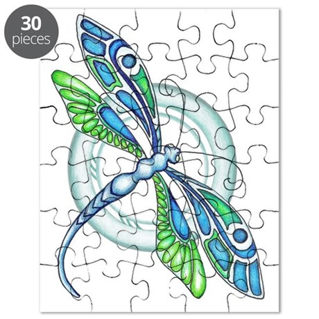 Decorative Dragonfly Puzzle