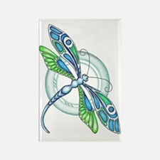 Decorative Dragonfly Rectangle Magnet