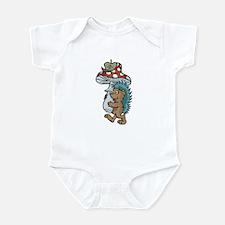 Cute Porcupine Carrying Mushroom Infant Bodysuit