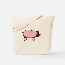 Pig Meat Cuts Tote Bag
