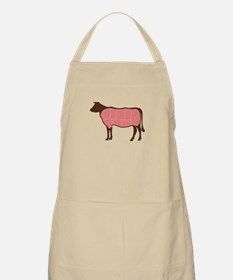Cow Meat Cuts Apron
