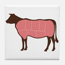 Cow Meat Cuts Tile Coaster