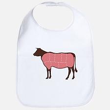 Cow Meat Cuts Bib
