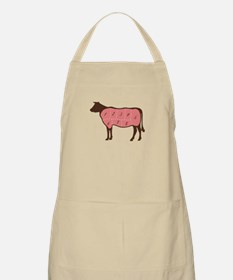 Cow Meat Cuts Numbered Apron