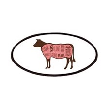 Cow Meat Cuts Diagram Patches