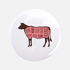 "Cow Meat Cuts Diagram 3.5"" Button"