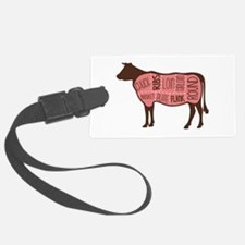Cow Meat Cuts Diagram Luggage Tag