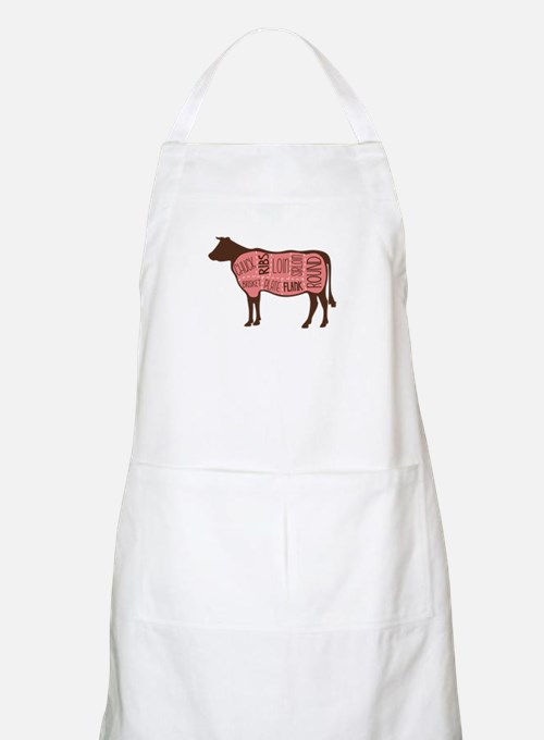 Cow Meat Cuts Diagram Apron