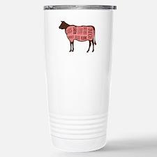 Cow Meat Cuts Diagram Travel Mug