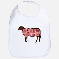Cow Meat Cuts Diagram Bib