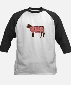 Cow Meat Cuts Diagram Baseball Jersey