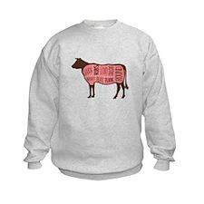 Cow Meat Cuts Diagram Sweatshirt