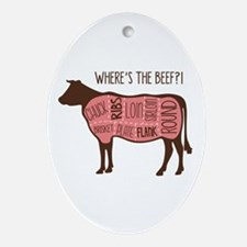 WHERES THE BEEF?! Ornament (Oval)