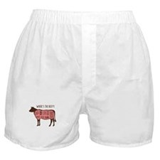 WHERES THE BEEF?! Boxer Shorts