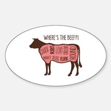 WHERES THE BEEF?! Decal