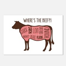 WHERES THE BEEF?! Postcards (Package of 8)