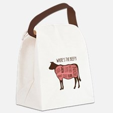 WHERES THE BEEF?! Canvas Lunch Bag
