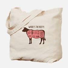 WHERES THE BEEF?! Tote Bag