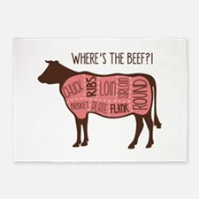 WHERES THE BEEF?! 5'x7'Area Rug