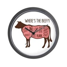 WHERES THE BEEF?! Wall Clock