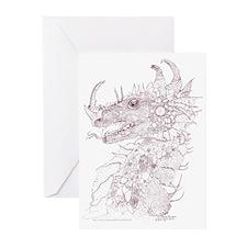 Sepia Steveg's Dragon Greeting Cards (Pk of 10