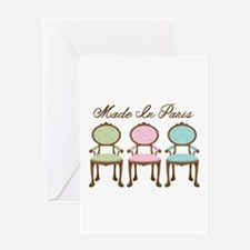 Made in paris Greeting Cards