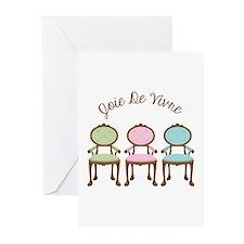 joie de vivre Greeting Cards