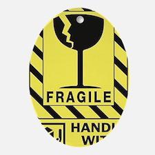 Fragile Oval Ornament