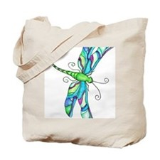 Turquise Dragonfly Tote Bag