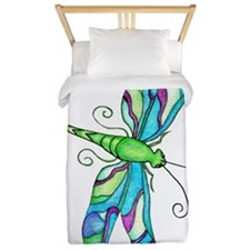 Turquise Dragonfly Twin Duvet