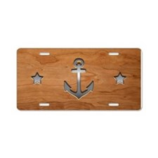 anchor-wood-PLLO Aluminum License Plate