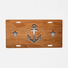 anchor-wood-PLLO Aluminum License Plate