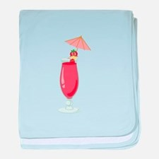 Strawberry Daiquiri Drink baby blanket