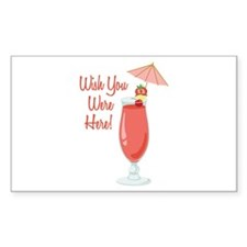 Wish You Were Here! Decal