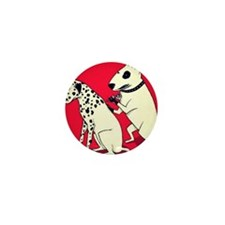 Dalmatian Getting Some Ink Mini Button (100 pack)