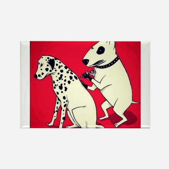 Dalmatian Getting Some Ink Magnets