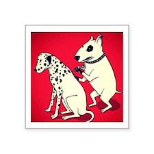 Dalmatian Getting Some Ink Sticker