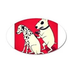Dalmatian Getting Some Ink Wall Decal
