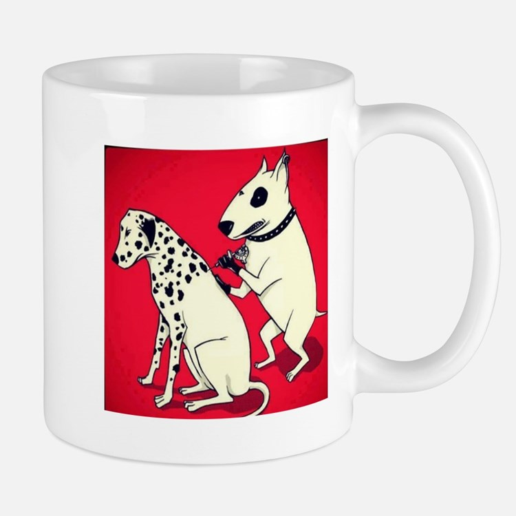 Dalmatian Getting Some Ink Mugs
