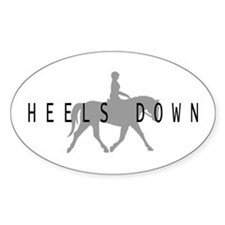 Heels Down Flat Rider Oval Decal