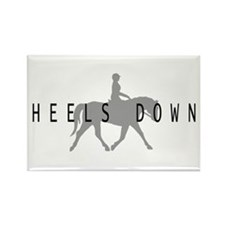 Heels Down Flat Rider Rectangle Magnet