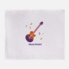 Personalized Fire Guitar Throw Blanket