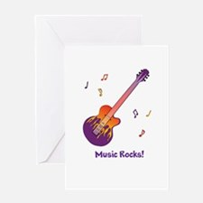 Personalized Fire Guitar Greeting Card