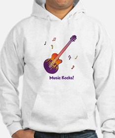 Personalized Fire Guitar Hoodie