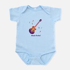 Personalized Fire Guitar Infant Bodysuit