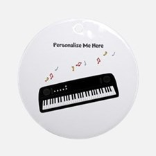 Personalized Keyboard Ornament (Round)
