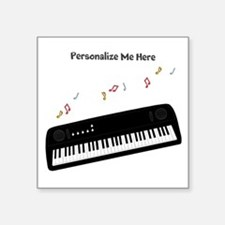 "Personalized Keyboard Square Sticker 3"" x 3"""