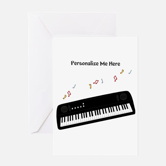 Personalized Keyboard Greeting Card