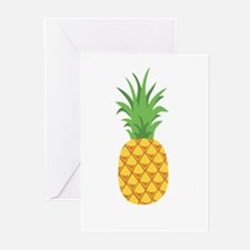 Pineapple Fruit Greeting Cards