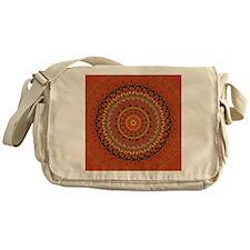 Autumn Leaves Rust Mandala Messenger Bag